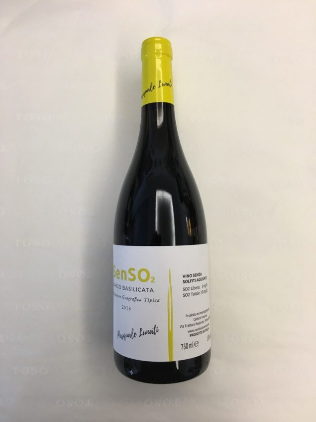 SenSO2 Bianco Basilicata 2018-Cantine Taverna-Nova Siri(MT)