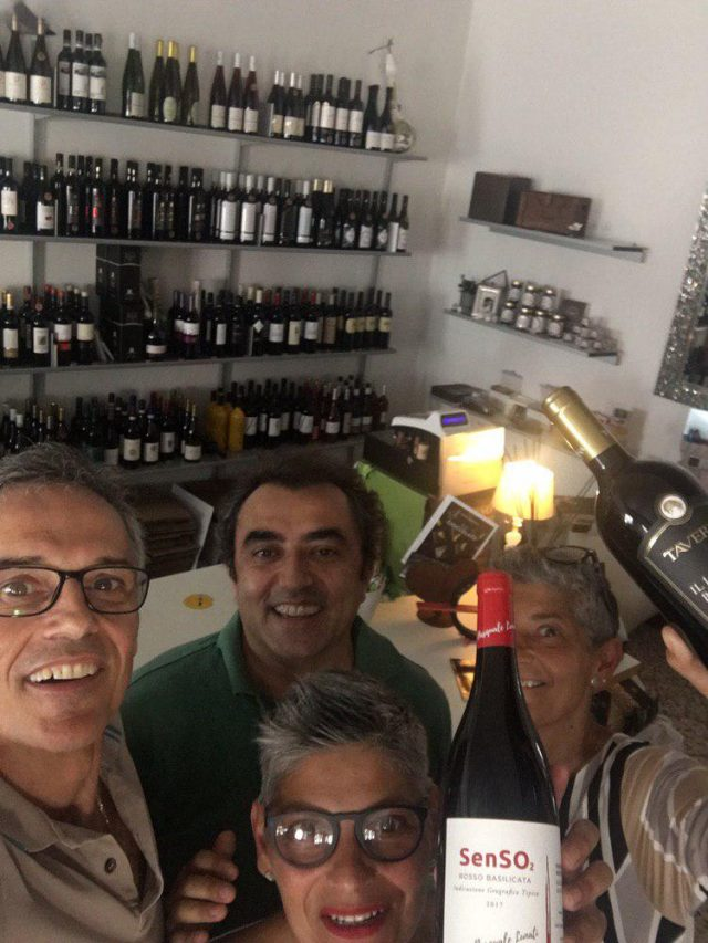 Gradita visita di Pasquale Lunati proprietario della Cantina Taverna